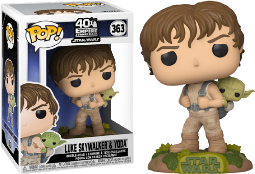 Funko Pop! Vinyl Star Wars ESB 40th Anniversary Luke with Yoda Figure - Pre-Order